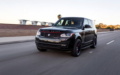 Black STRUT Land Rover Range Rover on the road wallpaper