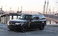 Black STRUT Land Rover Range Rover Parked front side view wallpaper 2560x1600 jpg