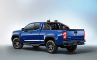 Blue Chevrolet Colorado Z71 back side view wallpaper 2560x1600 jpg