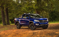 Blue Chevrolet Colorado Z71 in the forest wallpaper 2560x1600 jpg