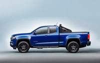 Blue Chevrolet Colorado Z71 side view wallpaper 2560x1600 jpg