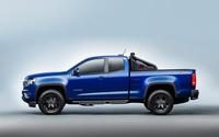 Blue Chevrolet Colorado Z71 side view wallpaper 2560x1600 jpg