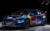 Blue Dodge Dart front side view wallpaper 1920x1200 jpg