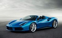 Blue Ferrari 488 Spider front side view wallpaper 2560x1600 jpg