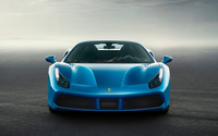 Blue Ferrari 488 Spider front view wallpaper 2560x1600 jpg