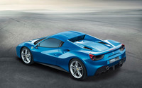 Blue Ferrari 488 Spider with top on wallpaper 2560x1600 jpg