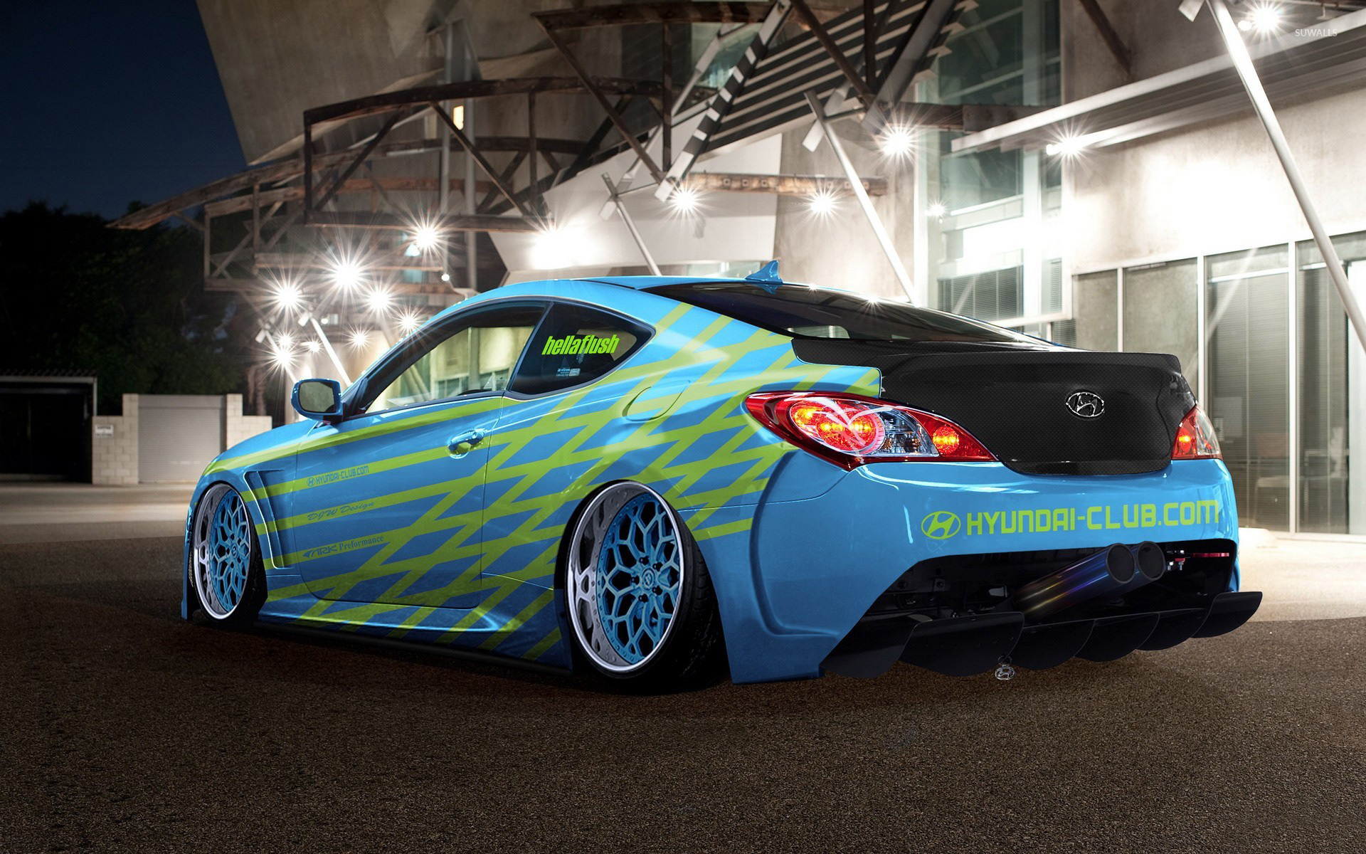 Blue Hyundai Genesis Coupe Wallpaper Car Wallpapers 51664