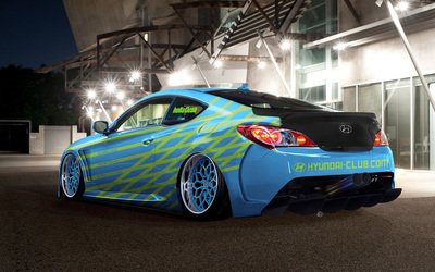 Blue Hyundai Genesis Coupe wallpaper