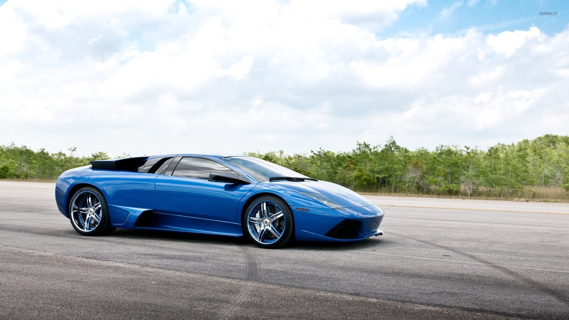 Blue Lamborghini Aventador Wallpaper Car Wallpapers 49062