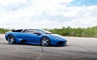 Blue Lamborghini Aventador wallpaper 1920x1080 jpg