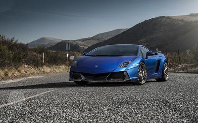 Blue Lamborghini Gallardo wallpaper