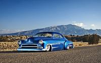 Blue sparkly Chevrolet lowrider wallpaper 1920x1080 jpg