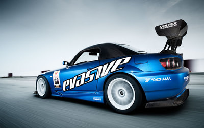 Blue Voltex Honda S2000 on the race track wallpaper