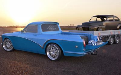 Blue Zolland Design Volvo Amazon side view wallpaper