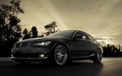 BMW 335i on the street wallpaper