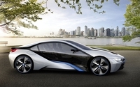 BMW i8 in the park wallpaper 1920x1200 jpg