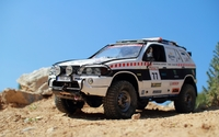 BMW X5 desert racing car wallpaper 2560x1600 jpg