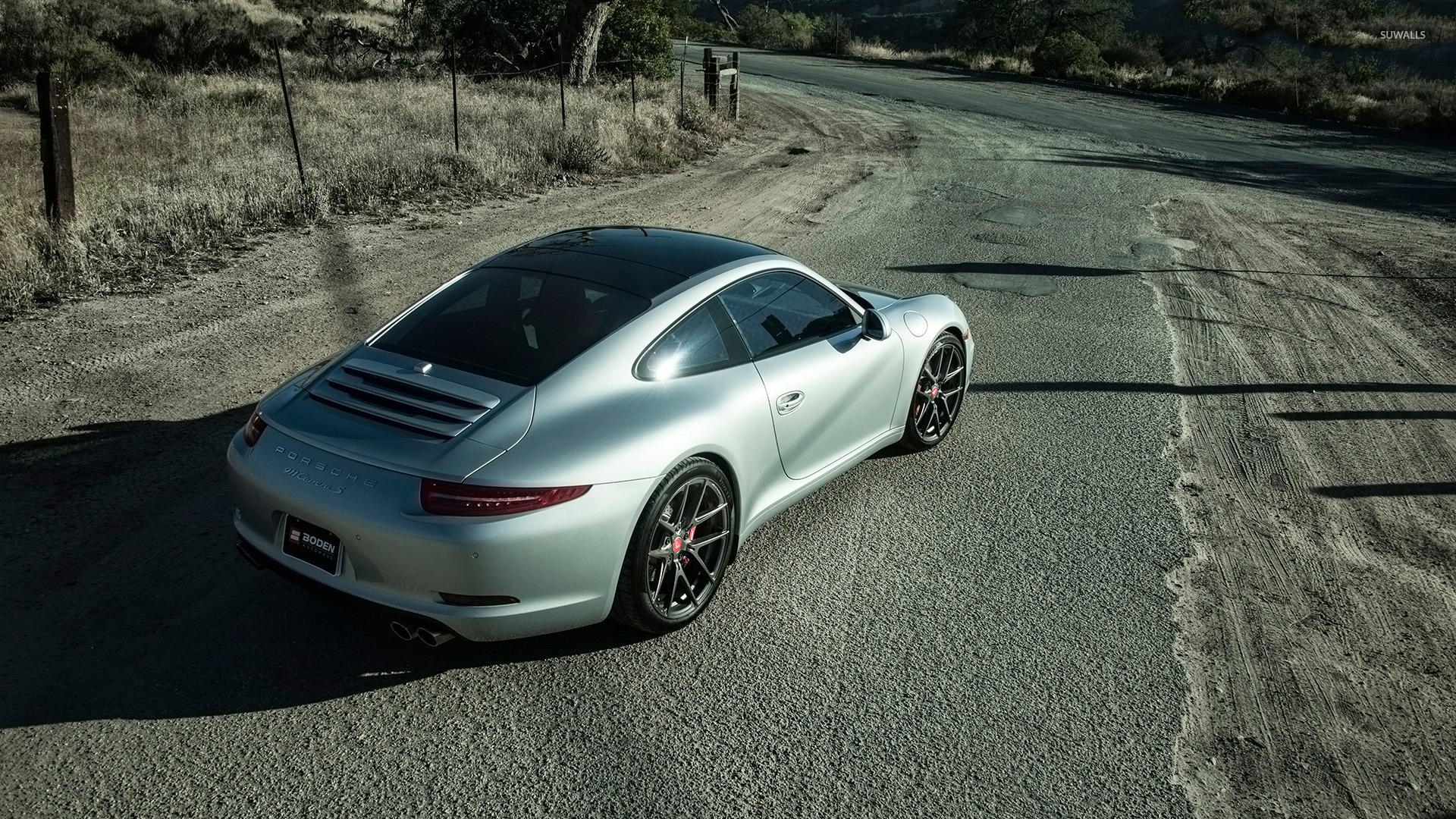 Boden porsche 911 carrera s back top view wallpaper car for Boden desktop