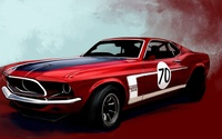 Boss 302 Mustang wallpaper 1920x1200 jpg