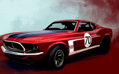 Boss 302 Mustang wallpaper