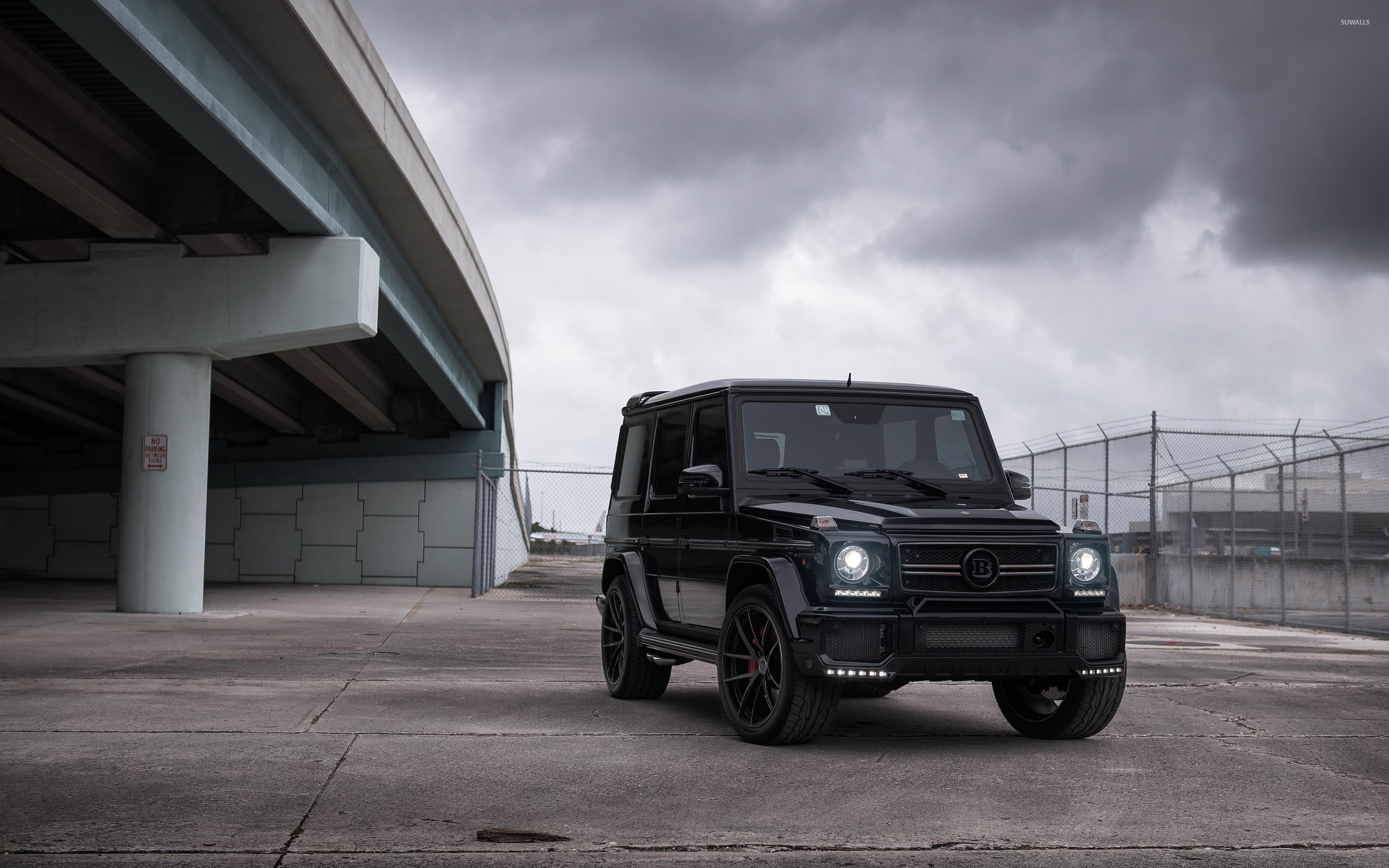 Brabus mercedes benz g class under a bridge wallpaper for Mercedes benz g class brabus