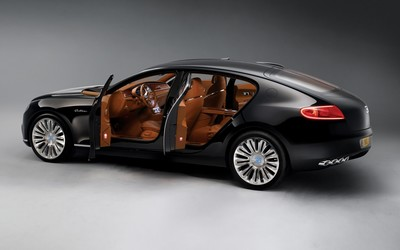Bugatti 16C Galibier with brown leather interior Wallpaper