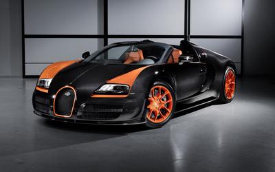 Bugatti Veyron front side view wallpaper