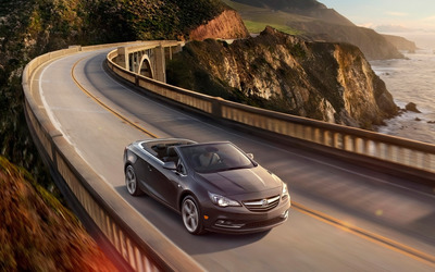 Buick Cascada convertible on a bridge wallpaper