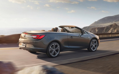 Buick Cascada convertible on the road Wallpaper