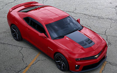 Chevrolet Camaro ZL1 top view wallpaper