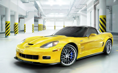Chevrolet Corvette Stingray in a warehouse wallpaper