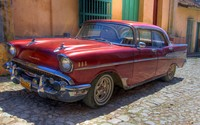Chevrolet retro car on the street wallpaper 1920x1080 jpg