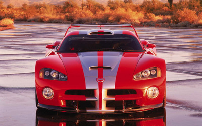 Chrysler Viper GTS-R front view Wallpaper