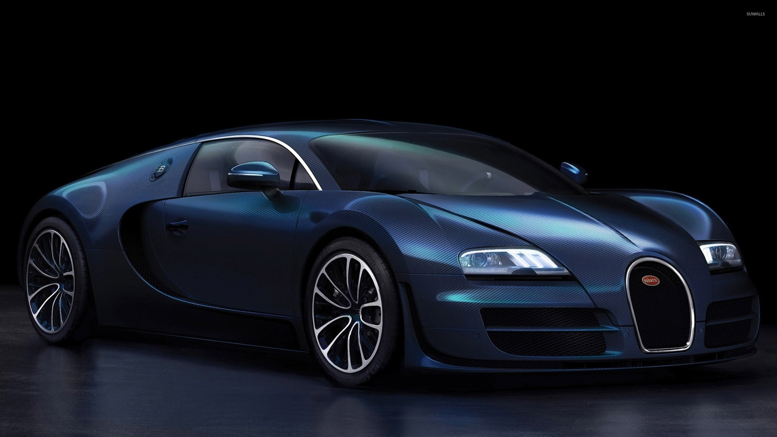 dark blue bugatti veyron front side view wallpaper car. Black Bedroom Furniture Sets. Home Design Ideas
