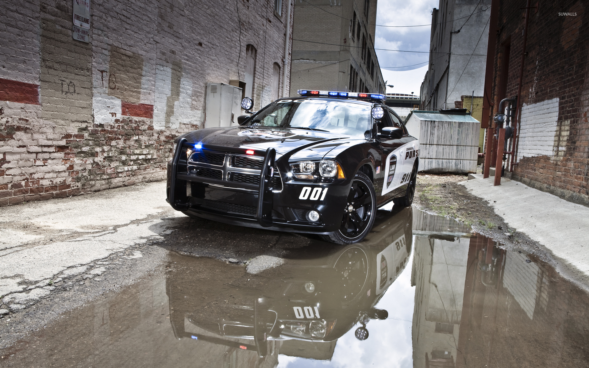 Dodge Charger police car wallpaper
