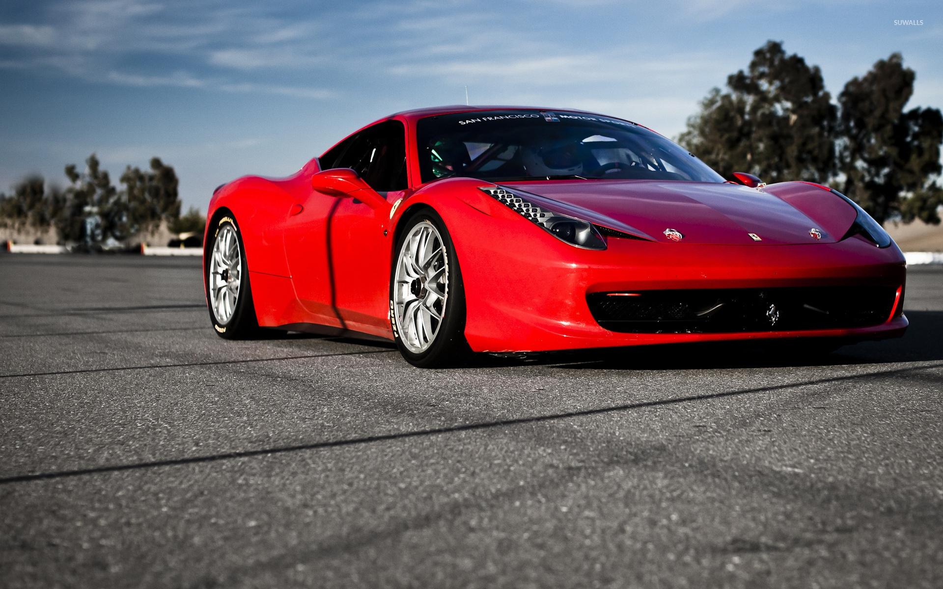 Ferrari 458 Italia Front Side View Wallpaper