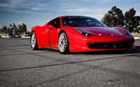 Ferrari 458 Italia front side view wallpaper 1920x1200 jpg