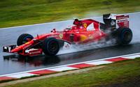 Ferrari SF15 T on wet track wallpaper 1920x1080 jpg