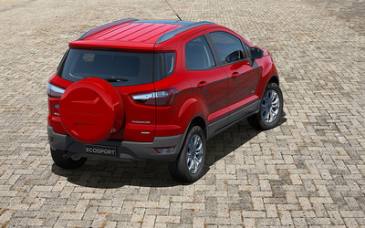 Ford EcoSport Titanium back view wallpaper