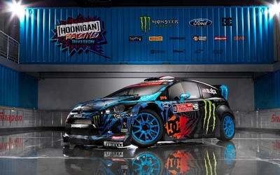 Ford Fiesta racing car wallpaper