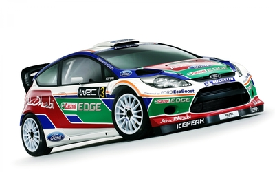 Ford Fiesta RS WRC front side view wallpaper