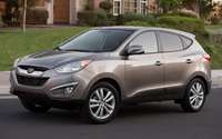 Front side view of a 2010 Hyundai Tucson wallpaper 1920x1200 jpg