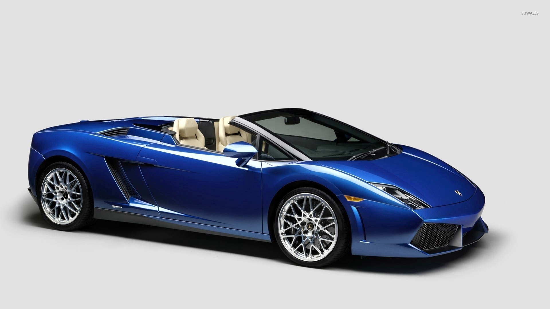 front side view of a blue lamborghini gallardo wallpaper - Lamborghini Gallardo Wallpaper Blue
