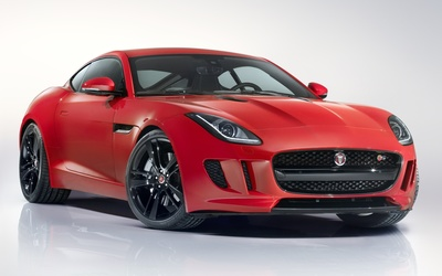Front side view of a red Jaguar C-X16 wallpaper