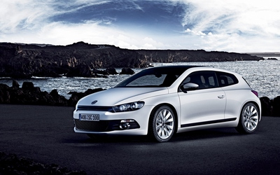 Front side view of a Volkswagen Scirocco wallpaper