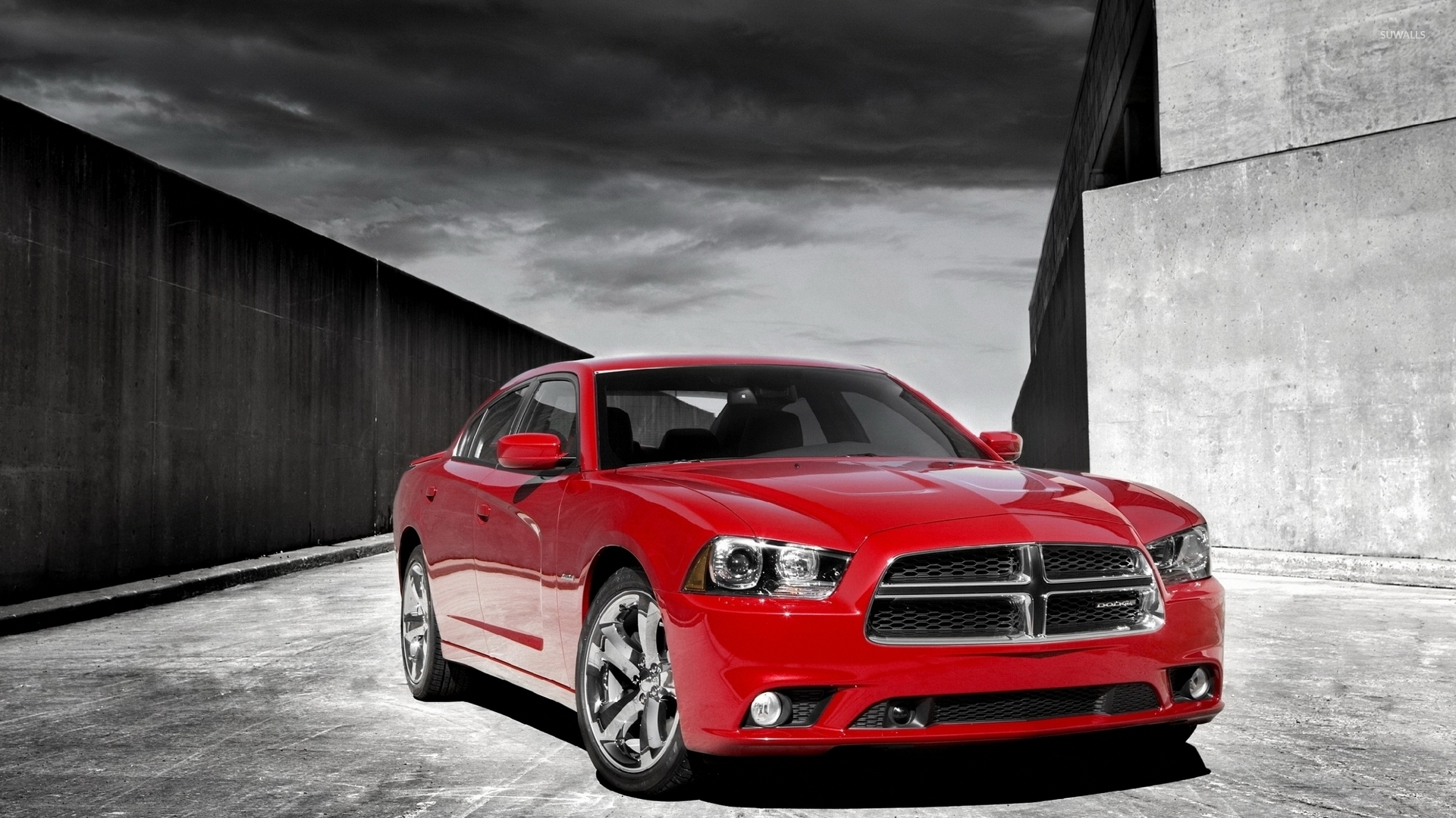 Front view of a 2012 Dodge Charger