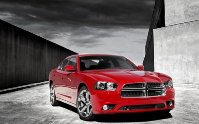 Front view of a 2012 Dodge Charger wallpaper