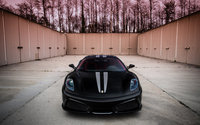 Front view of a black Ferrari F430 wallpaper 2560x1600 jpg