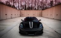 Front view of a black Ferrari F430 wallpaper 2560x1600 jpg