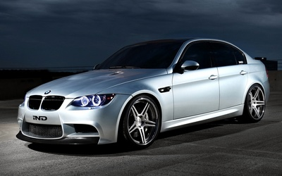 Front view of a IND BMW M3 wallpaper